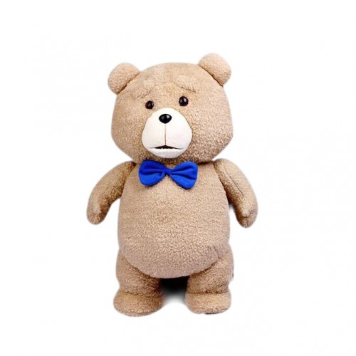 Toys For Ted : Epoch teddy bear ted plush toys in apron cm blue