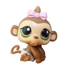 HASBRO - Littlest Pet Monkey with Accessories Green Eyes #216