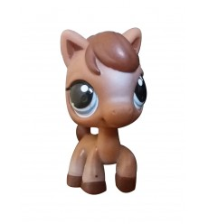 HASBRO - Littlest Pet Brown Horse Blue Eyes #337