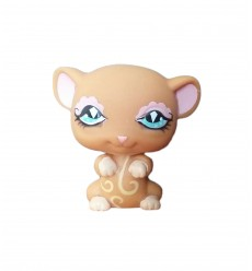 HASBRO - Littlest Pet Shop Brown Mouse Fancy Blue Eyes #580