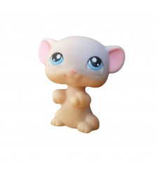 HASBRO - Littlest Pet Shop Pink and Grey Mouse Blue Eyes #102