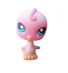HASBRO - Littlest Pet Shop Pink Parakeet Blue Eyes #205