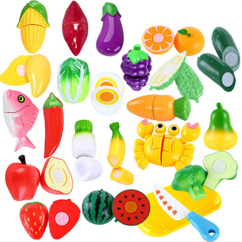 Unbranded Role Play Kitchen Fruit Vegetable Food Toy Set Child Gift